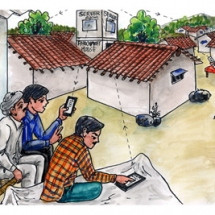 Device for data management to enhance cellular efficiency in rural areas